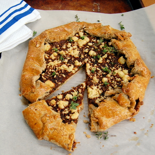 Rustic Sweet Onion Tart - Its Not Easy Eating Green