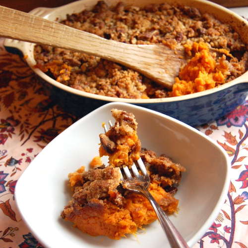 Sweet Potato Casserole (Less Sugar Version)
