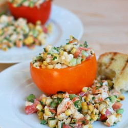 Grilled Corn and Lobster Salad